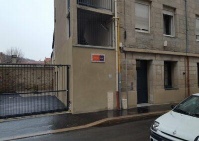Transformation de commerces en logement social PMR, création d'une cour intérieure et d'un hall d'entrée – Saint Etienne (42)