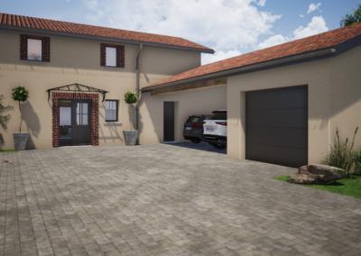 Rénovation d'une ferme – Chamboeuf (42)