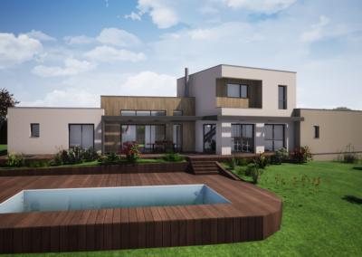 Maison individuelle toit terrasse – Boën sur Lignon (42)